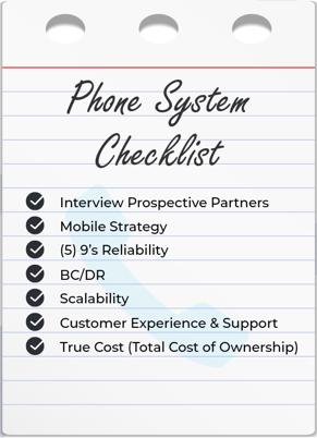 Phone-system-checklist