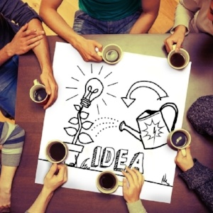 Composite image of idea and innovation graphic on page with people sitting around table drinking coffee-388067-edited.jpeg